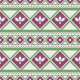 Seamless vector pattern.  Traditional ethno background in green colors Royalty Free Stock Photography