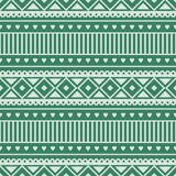 Seamless vector pattern.  Traditional ethno background in green colors. Royalty Free Stock Images