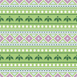 Seamless vector pattern.  Traditional ethno background in green colors. Royalty Free Stock Photography