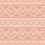 Seamless vector pattern.  Traditional ethno background in orange colors Royalty Free Stock Image