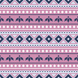 Seamless vector pattern.  Traditional ethno background in pink colors. Stock Image