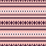 Seamless vector pattern.  Traditional ethno background in pink colors. Stock Photo