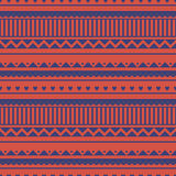 Seamless vector pattern. Traditional ethno background in red and blue colors. Series of National, Folk, Ethnic and Traditional Seamless Patterns vector illustration