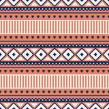 Seamless vector pattern.  Traditional ethno background in red colors Royalty Free Stock Images