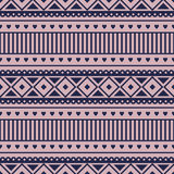 Seamless vector pattern.  Traditional ethno background in violet colors Stock Photo