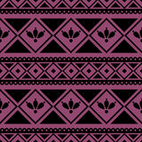 Seamless vector pattern.  Traditional ethno background in violet colors. Royalty Free Stock Images