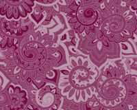 Seamless vector pattern with traditional oriental floral ornamen Royalty Free Stock Images