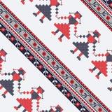 Seamless traditional romanian pattern Royalty Free Stock Photos