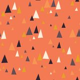 Seamless vector pattern with triangle mountains in scandinavian style. Decorative background with landscape elements. Abstract royalty free illustration
