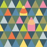 Seamless vector pattern with triangles and pencils Stock Photo