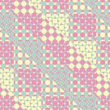 Seamless vector pattern of triangular patchwork with abstract mo vector illustration