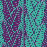 Seamless vector pattern with  tropical  leaves. Color seamless vector pattern with  tropical  leaves Royalty Free Stock Images