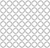 Seamless vector pattern twisted steel rings like chain mail Stock Images