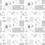 Seamless vector pattern, vintage grey geometric background with rhombus, triangles, lines. Print for decor, wallpaper, packaging,. Wrapping, fabric. Triangular royalty free illustration