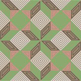 Seamless vector pattern, vintage pastel colours, square mosaic Royalty Free Stock Image