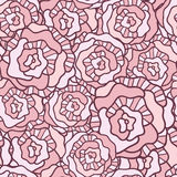 Seamless vector pattern with vintage roses Royalty Free Stock Images
