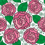 Seamless vector pattern with vintage roses Royalty Free Stock Photography