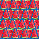 Seamless vector pattern with watermelon Stock Photos