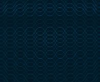 Seamless vector pattern with waves Stock Images