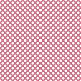 Seamless vector pattern with white polka dots on a tile pink background Royalty Free Stock Images