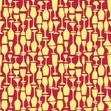 Seamless vector pattern with wineglass Stock Photography