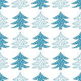 Seamless vector pattern winter spruce. Christmas tree seamless pattern. Vector winter holiday illustration Royalty Free Stock Photos