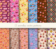 Seamless vector patterns Stock Photography