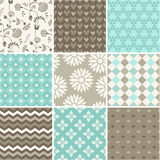 Seamless Vector Patterns Set Royalty Free Stock Photo