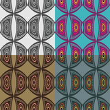 Seamless vector patterns Stock Images