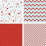 Seamless vector patterns. Set of Christmas backgrounds. Vector seamless patterns. Set of Christmas backgrounds Stock Photos