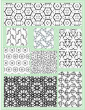 Seamless vector patterns set. Seamless Geometric Patterns Set. Vector illustration Stock Illustration