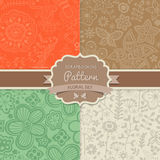 4 seamless vector patterns. Shabby chic. Floral patterns (seamle Royalty Free Stock Photos