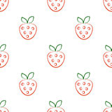 Seamless vector patterns with strawberry. Stock Photography