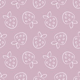 Seamless vector patterns with strawberry. Series of Fruits and Vegetables Seamless Patterns Stock Photo