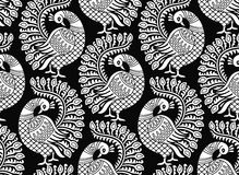Seamless vector peacock design Royalty Free Stock Images