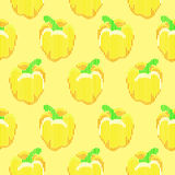 Seamless vector pepper pattern Stock Image