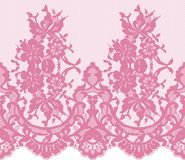 Seamless Vector Pink Lace Royalty Free Stock Images