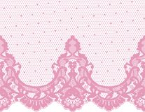 Seamless Vector Pink Lace Stock Images