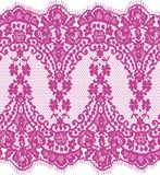 Seamless Vector Pink Lace Stock Photo