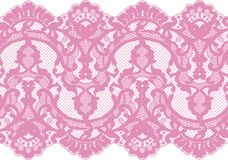 Seamless Vector Pink Lace Royalty Free Stock Photo