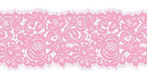 Seamless Vector Pink Lace Stock Photography
