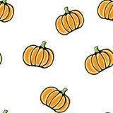 Seamless vector pumpkin pattern Stock Photos