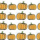Seamless vector pumpkin pattern Royalty Free Stock Photo
