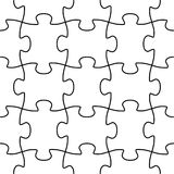 Seamless vector puzzle shape Stock Photos