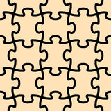 Seamless vector puzzle shape. Seamless vector shape of puzzle game royalty free illustration