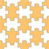 Seamless vector puzzle shape Royalty Free Stock Images