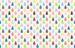 Seamless vector rain pattern. Colorful rain. Seamless vector pattern Stock Photo