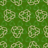 Seamless vector recycling sign pattern Royalty Free Stock Photography