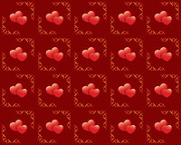 Seamless vector red texture with hearts. Vector seamless red texture with hearts Stock Image