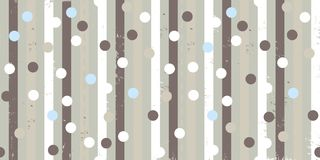 Seamless vector repeatable pattern with colored vertical strips, polka dots and leafs vector illustration